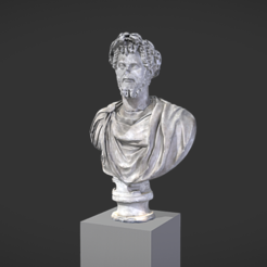 Download free 3D printer templates Bust of Septimus Severus Crowned with Oak, MSR