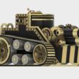 TriSiegeEngine.PNG Download STL file Steampunk Tank | Tri-Cannon | (.STL file) • Design to 3D print, MF3D