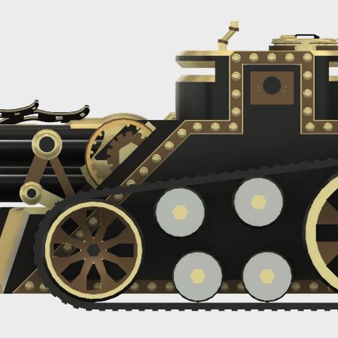 tritank6.PNG Download STL file Steampunk Tank | Tri-Cannon | (.STL file) • Design to 3D print, MF3D