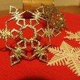Download free 3D printer files 10 Christmas snowflakes, SKUPERDIY