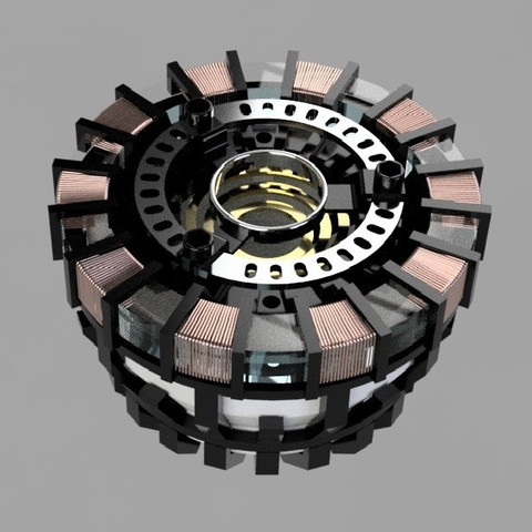 arc rend.jpg Download STL file Iron Man Arc Reactor • 3D printer design, SKUPERDIY
