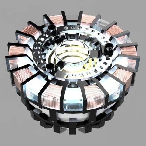 Arc render.jpg Download STL file Iron Man Arc Reactor • 3D printer design, SKUPERDIY