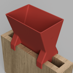 Free Funnel for narrow concrete formwork 3D model, kleinerELM