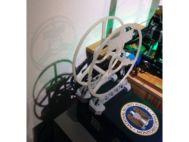 d4b57a2926de84d23523f80b34e1aa56_preview_featured.jpg Download free STL file Little MasterSpool Roller + Sticker (fixed stl, multiple versions, including sourcefile) • 3D print template, kleinerELM