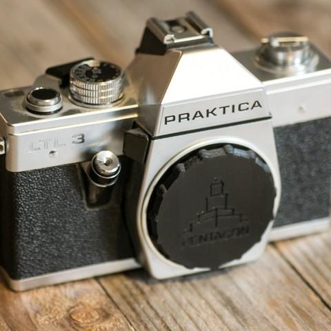 Free 3D printer files Camera body cap (M42 Lens mount), kleinerELM