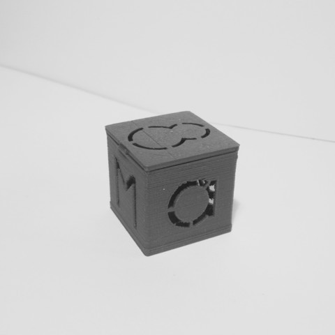 STL file Calibration cube gift, rdu