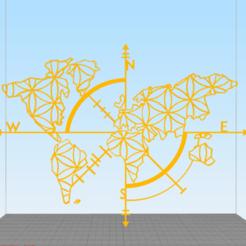 Descargar modelo 3D Wall World Map (Mapa Mundial para colgar), yak_vi