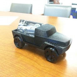 Download free 3D printer designs Toy Pickup Truck, 3DPrintingOne