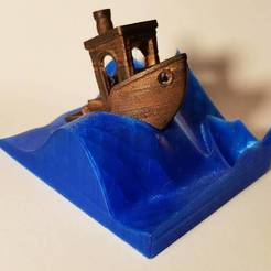 Download free 3D printing designs 3DBenchy Wave Stand, 3DPrintingOne