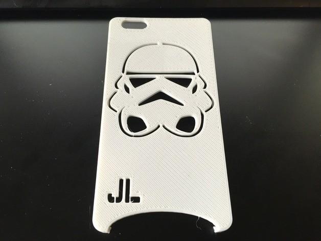 Storm 1.jpg Download free STL file Storm Trooper IPhone 6 Plus Case • 3D printable template, 3DPrintingOne