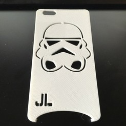 Descargar diseños 3D gratis Funda Storm Trooper para iPhone 6 Plus, 3DPrintingOne