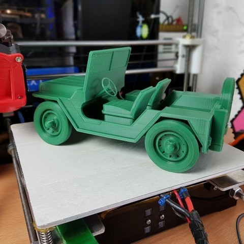 Download free STL files Army Jeep, 3DPrintingOne
