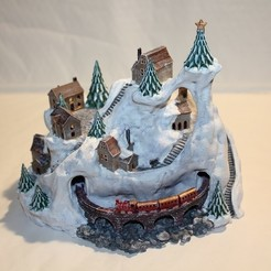 Download 3D printing models Winter Wondertown, Stuwaha