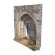 Imprimir en 3D gratis Puerta medieval de la iglesia de San Juan Bautista, MonteMorbase