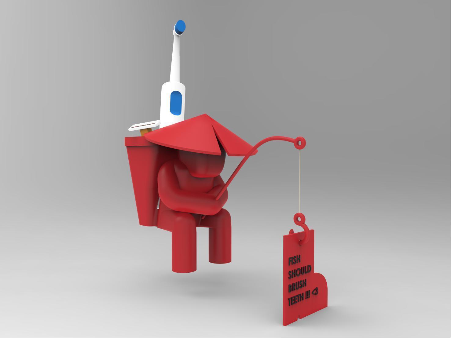 20171112-SINKsherman-28.jpg Download free STL file SINKsherman: Clean Toothbrush Pot • 3D printing object, TayoTayo