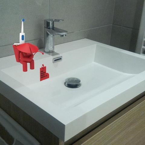 20171112-SINKsherman-25.jpg Download free STL file SINKsherman: Clean Toothbrush Pot • 3D printing object, TayoTayo