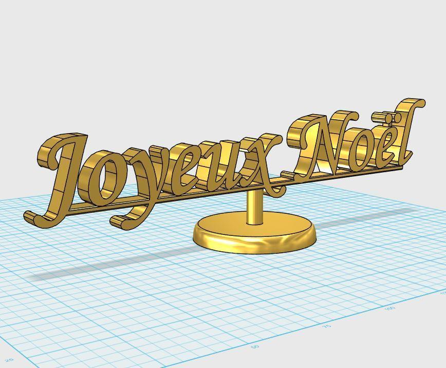 joyeux_noel.JPG Download free STL file Merry Christmas • 3D printer model, fratton