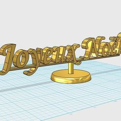 joyeux_noel.JPG Download free STL file Merry Christmas • 3D printer model, fratton