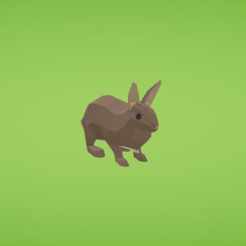 Free Rabbit 3D printer file, Colorful3D