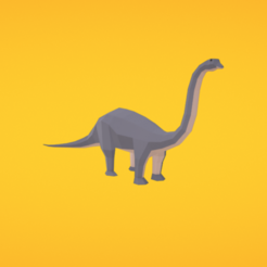 Download free 3D printing templates Diplodocus, Colorful3D