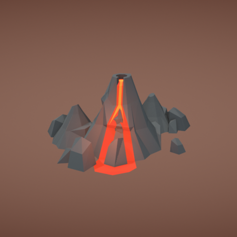 Free 3D printer model Volcano, Colorful3D