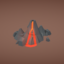 Download free 3D printing models Volcano, Colorful3D