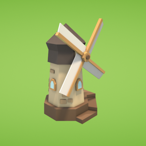 Free 3D model Windmill, Colorful3D