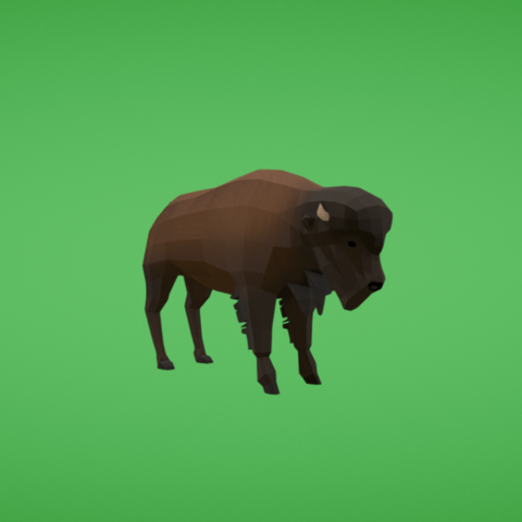 Free 3D file Bison, Colorful3D