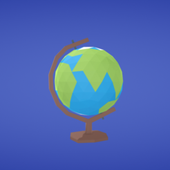 Free STL Globe, Colorful3D