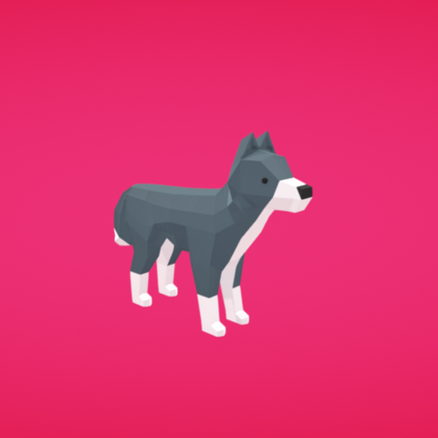 Free 3D model Wolf, Colorful3D