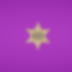 Free stl Sheriff star, Colorful3D