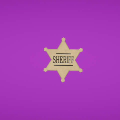 Free 3D file Sheriff star, Colorful3D