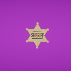Plan 3D gratuit Sheriff star, Colorful3D