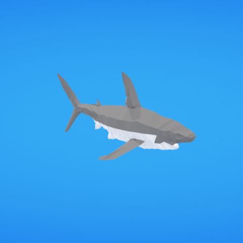 Free STL Shark, Colorful3D