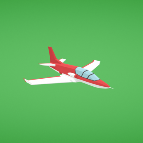Free STL files Jet, Colorful3D