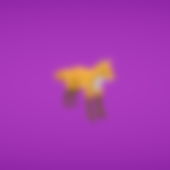Free STL Fox, Colorful3D