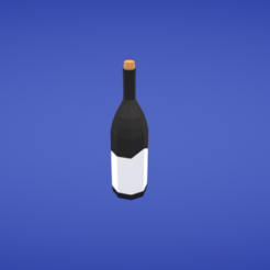 Free 3d printer model Bottle of wine, Colorful3D