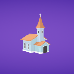 Download free STL files Church, Colorful3D