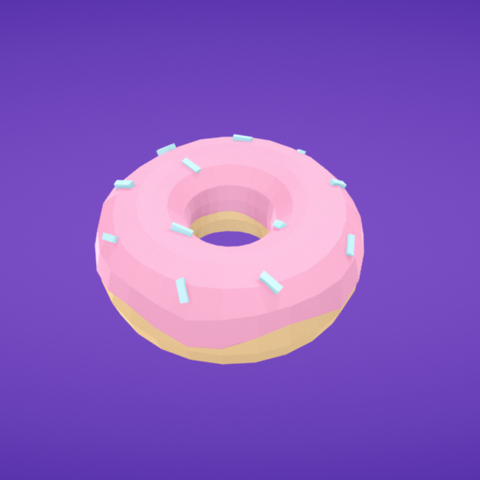 Free Donut 3D model, Colorful3D