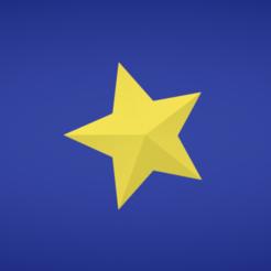 Modelo 3D Estrella gratis, Colorful3D