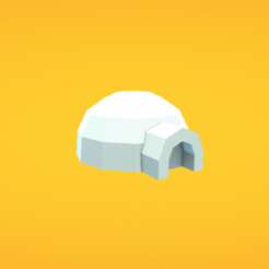 Download free 3D printer model Igloo, Colorful3D