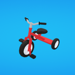 Plan 3D gratuit Tricycle, Colorful3D