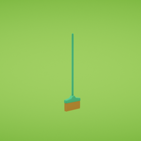 Free 3D printer designs Broom, Colorful3D