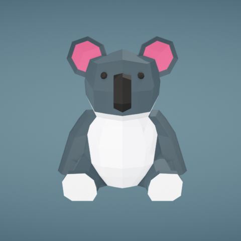 Free 3d model Koala, Colorful3D