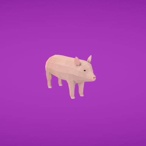 Free Pig 3D model, Colorful3D
