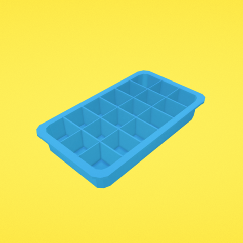 Free Ice cube tray 3D model, Colorful3D