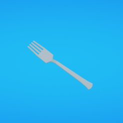 Free 3D printer model Fork, Colorful3D