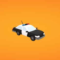 diseños 3d gratis Coche de policía, Colorful3D