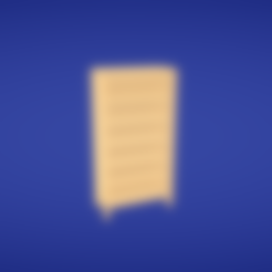 Bookcase.obj Download free OBJ file Bookcase • 3D printing design, Colorful3D