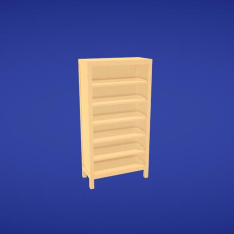 Free 3D printer designs Bookcase, Colorful3D